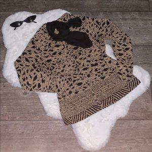 Vintage 90s Leopard Cardigan